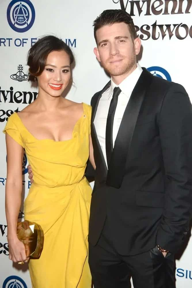 Bryan Greenberg and his wife Jaime Chung attended the The Art of Elysium Ninth Annual Heaven Gala at the 3LABS on January 9, 2016 in Culver City, CA. Greenberg wore a classy black suit with his slick undercut and five o'clock shadow.