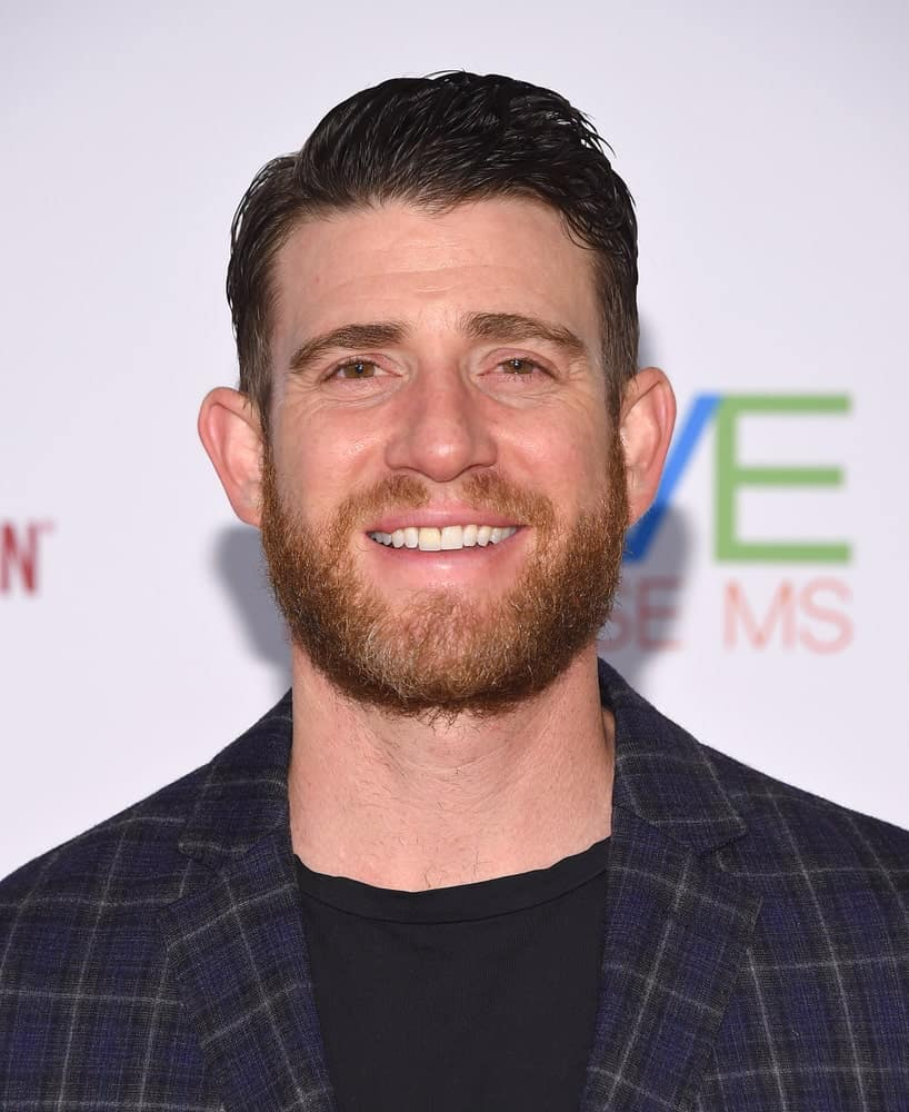 Bryan Greenberg wore a fashion forward patterned suit that he paired with his slick side-parted fade hairstyle and full beard at the Race to Erase MS 25th Anniversary Gala last April 20, 2018 in Hollywood, CA.
