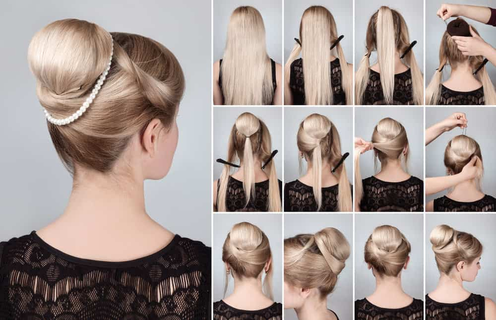 Wedding hairstyle with a bun (plus bun tutorial).
