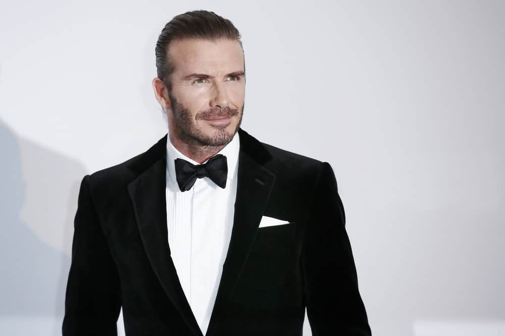 David Beckham was oozing with manly charms when he donned the man bun at the amfAR Gala Cannes 2017 at Hotel du Cap-Eden-Roc on May 25, 2017 in Cap d'Antibes, France.