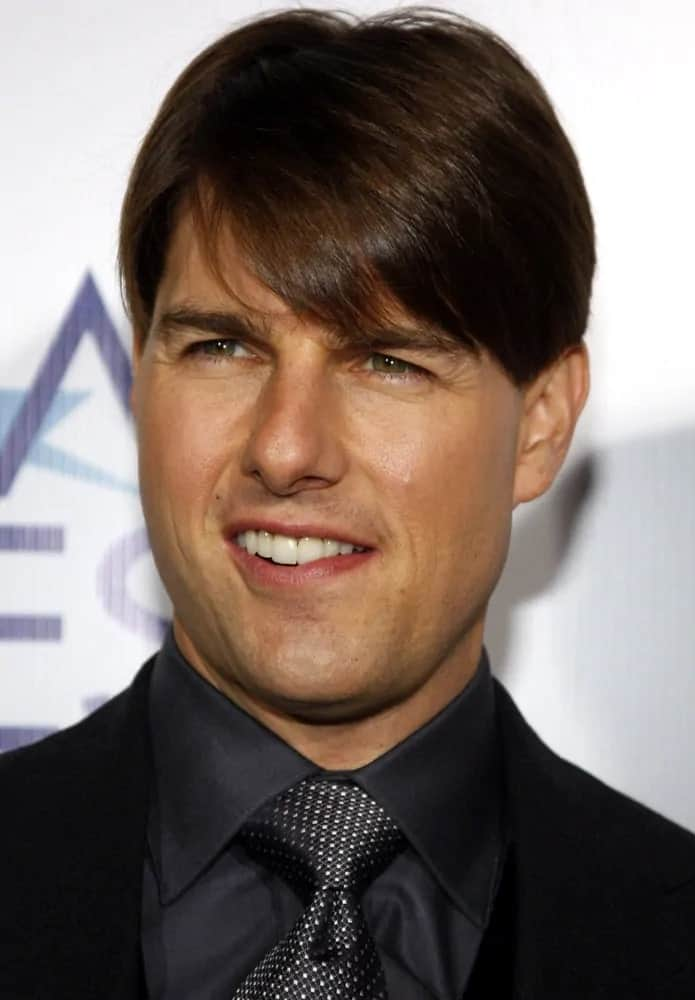 Tom Cruise looked adorable with his short hair with side-swept curtain bangs at the AFI Fest Opening Night Gala Premiere of
