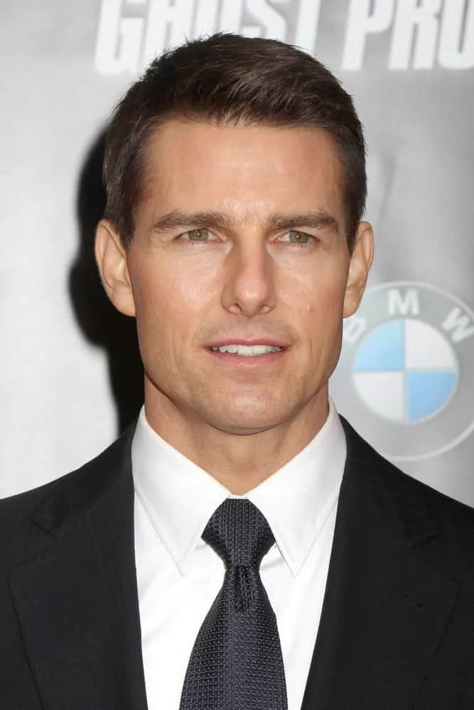 Tom Cruise made an appearance with his short and neat crew cut hairstyle at the premiere of