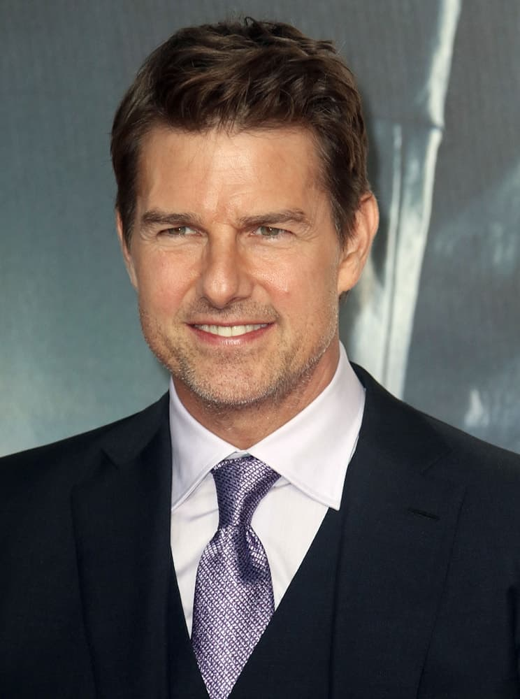 Last July 13, 2018, Tom Cruise attended the UK Premiere of Mission: Impossible – Fallout held at the BFI IMAX. He wore a classy charcoal three-piece suit with his short brushed-up fade hairstyle.