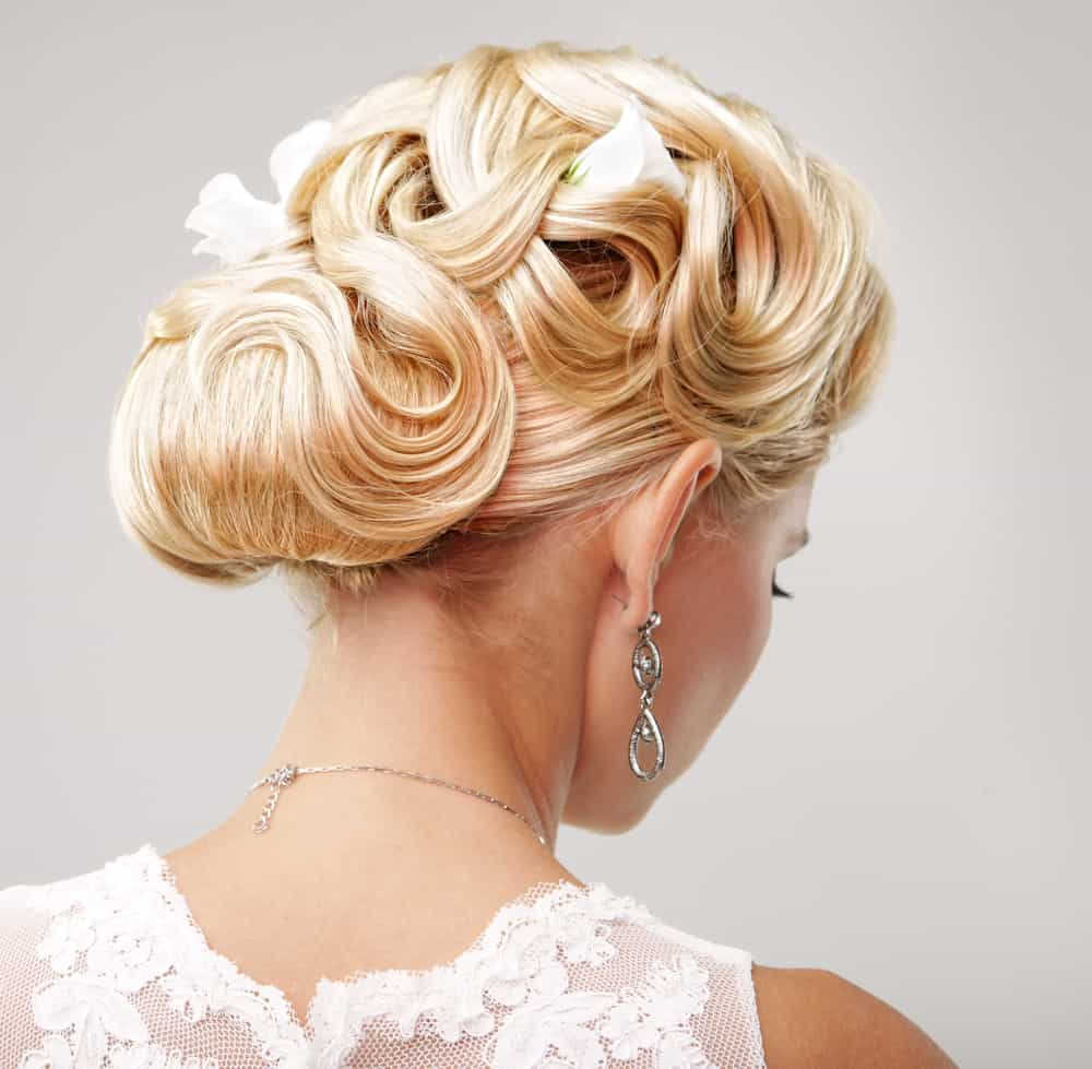 Bridal Updo (Upstyle). Updo Wedding Hairstyle