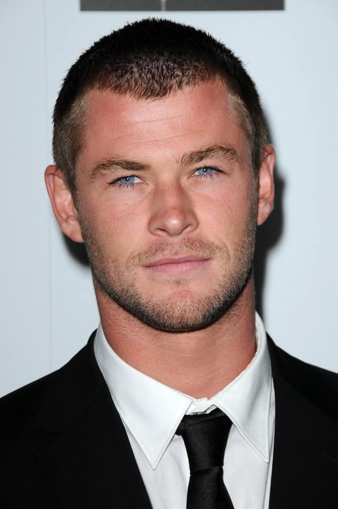 Chris Hemsworth in crew cut hairstyle at the G'Day USA Australia Week 2009 Black Tie Gala.