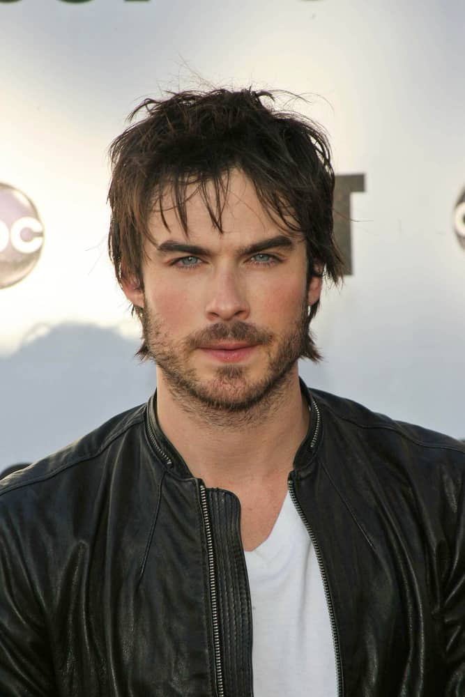 """Ian Somerhalder looked smoldering hot with tousled flippy hairstyle and some beard as seen at """"Lost"""" Live: The Final Celebration, Royce Halll, UCLA, Westwood, CA in 2010."""