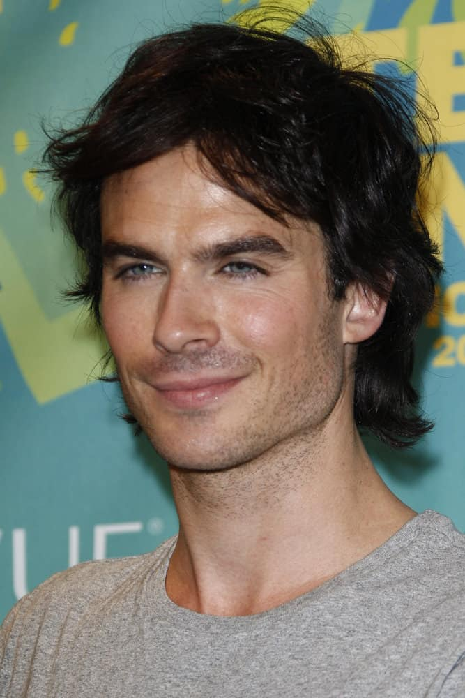 Ian Somerhalder looked casual with his tousled hairstyle during the 2011 Teen Choice Awards held at Gibson Amphitheatre on August 7, 2011 in Los Angeles, California.