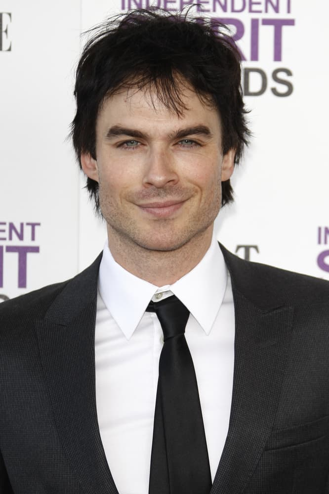 Ian Somerhalder had a shorter tousled 'do at the 2012 Film Independent Spirit Awards in Santa Monica, CA.