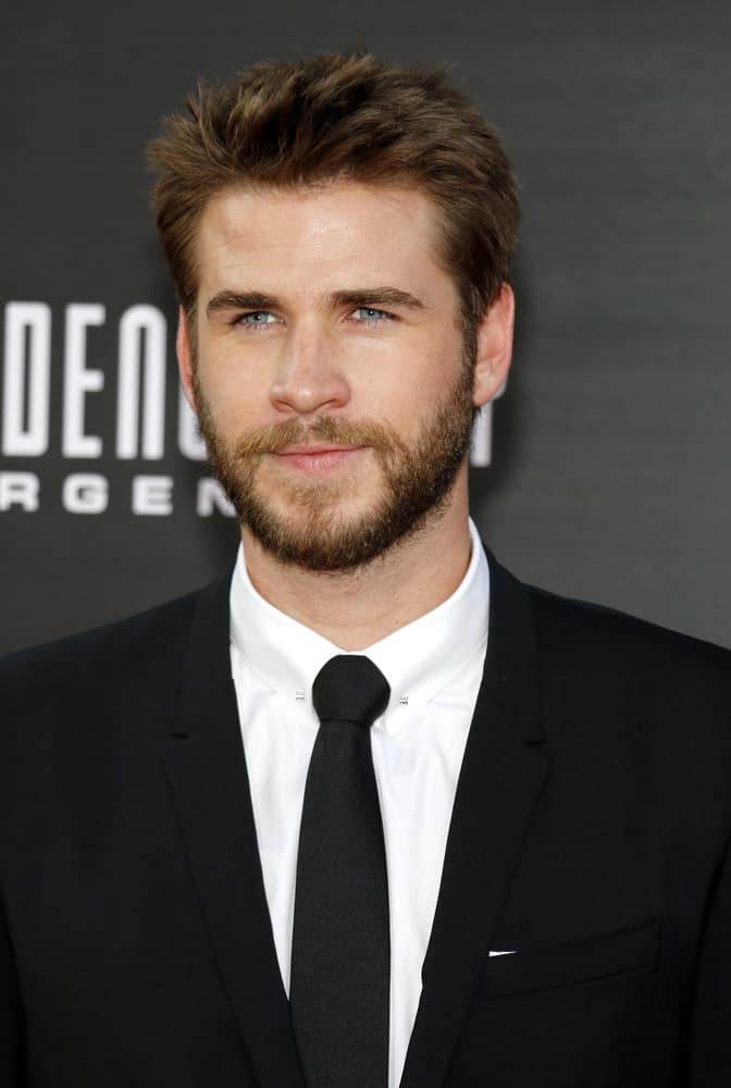 Liam Hemsworth showed up with spiky hairstyle at the Los Angeles premiere of 'Independence Day: Resurgence' held at the TCL Chinese Theatre in Hollywood, USA on June 20, 2016.