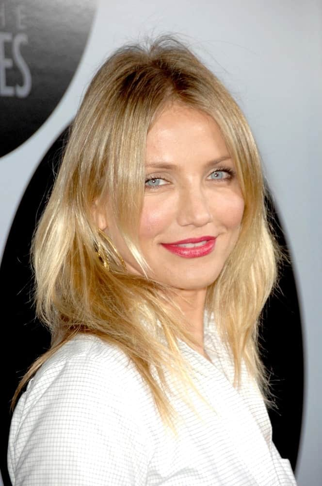 Cameron Diaz kept her blond locks carefree and loose at the AFI Night at the Movies presented by ArcLight Cinema in Los Angeles, CA last October 01, 2008.