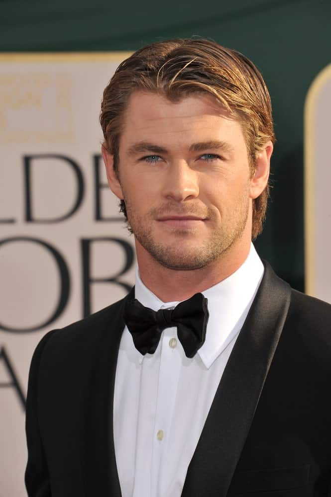 Chris Hemsworth attended the 68th Annual Golden Globe Awards at the Beverly Hilton Hotel last January 16, 2011 with his hair chopped short, highlighted and slicked to this sophisticated look.