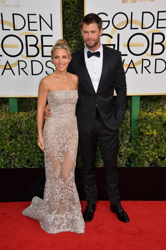Last January 8, 2017, Chris Hemsworth & Elsa Pataky were at the 74th Golden Globe Awards at The Beverly Hilton Hotel in Los Angeles. Chris was dashing in his tuxedo complemented by his short spiky hair and beard.
