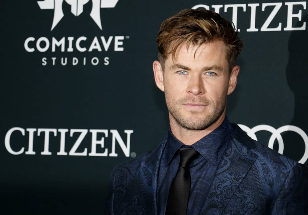Chris Hemsworth attended the World premiere of 'Avengers: Endgame' held at the LA Convention Center in Los Angeles last April 22, 2019. He had on a detailed blue suit to complement his dark brown undercut fade hairstyle swept to one side.