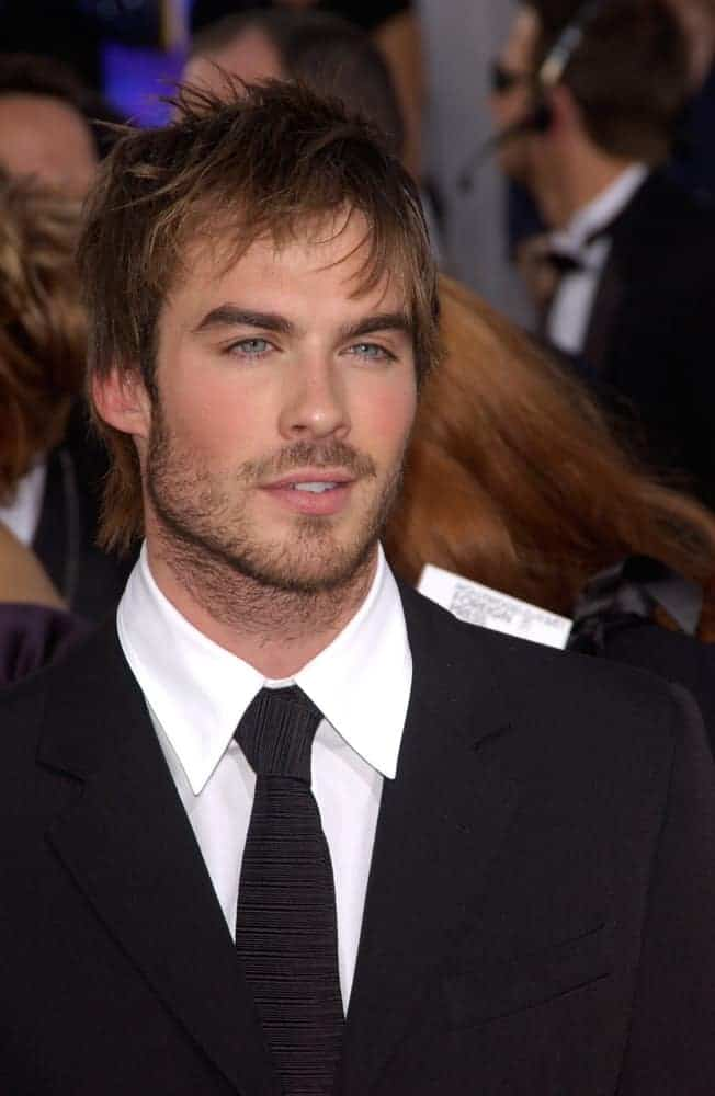 Ian Somerhalder dyed his hair golden brown at the 62nd Annual Golden Globe Awards in 2005.