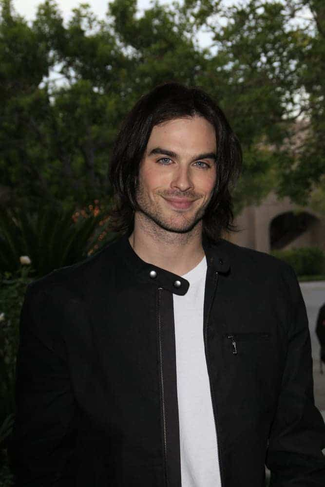 Ian Somerhalder sported a long hairstyle during the Television Critics Association press tour at the Ritz Carlton Hotel in Pasadena, California on January 9, 2007.