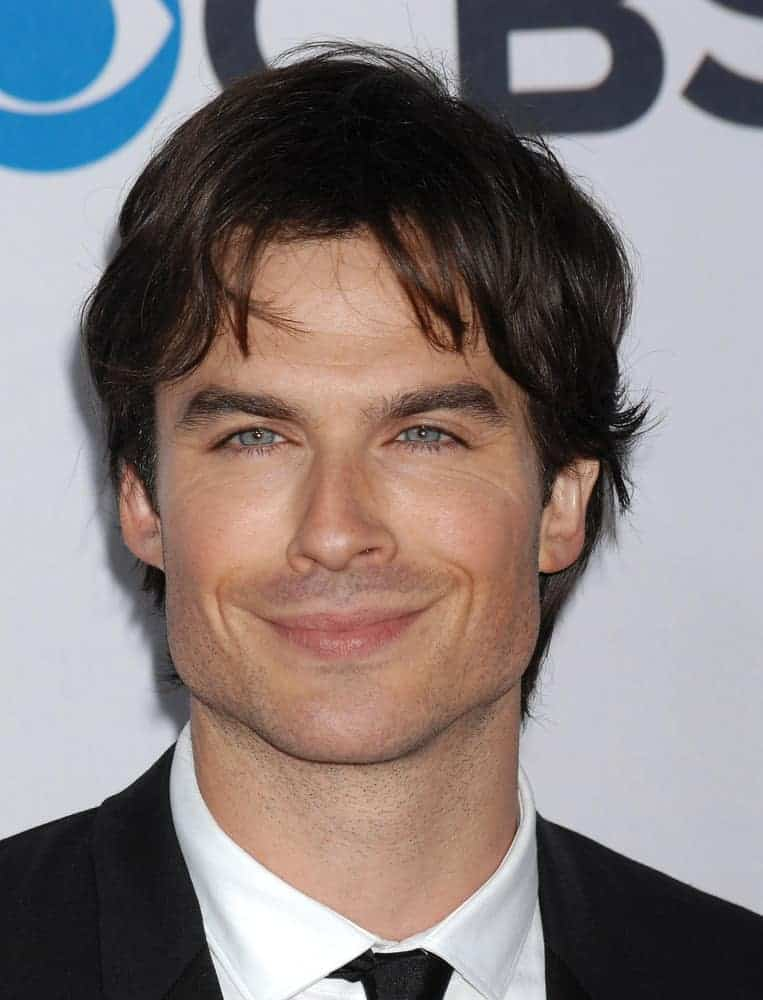 Ian Somerhalder was all smiles under his wavy bangs during the 2013 Peoples Choice Awards on January 9, 2013 in Los Angeles, CA.