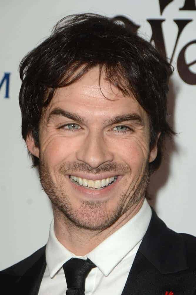 Ian Somerhalder with the lazy boy look at the The Art of Elysium 9th Annual Heaven Gala at the 3LABS in Culver City, California.