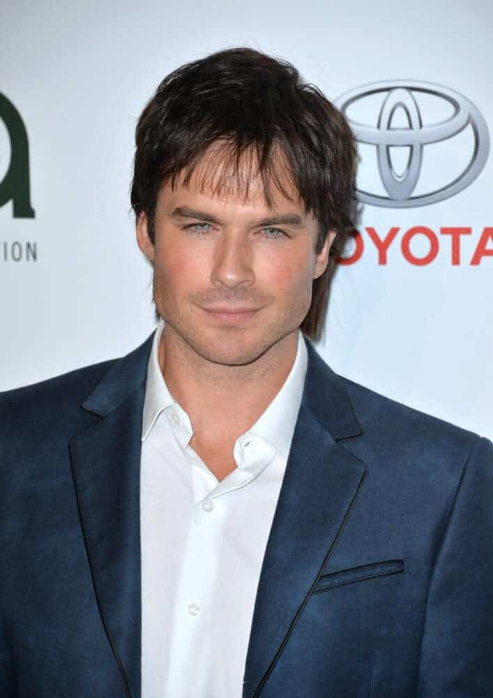 Ian Somerhalder sporting some bangs at the 26th Annual Environmental Media Awards at Warner Bros. Studios, Burbank.