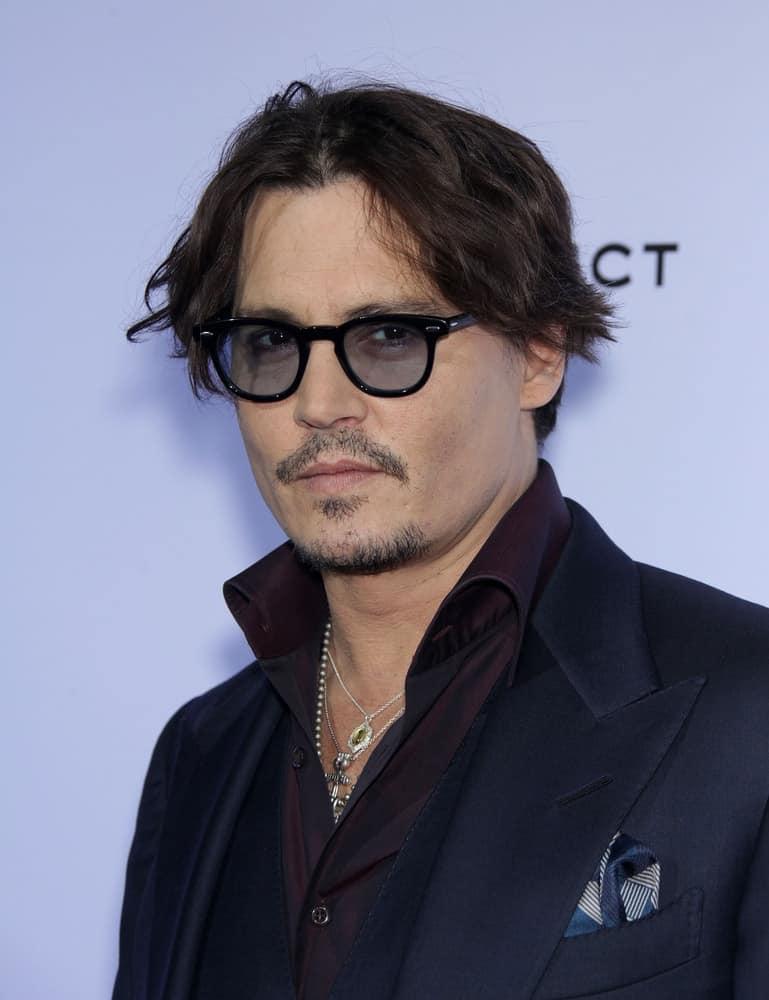 Johnny Depp arrived at the