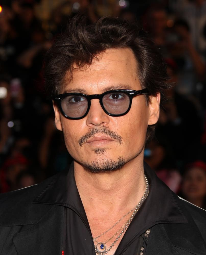 Johnny Depp was his usual rugged self at the