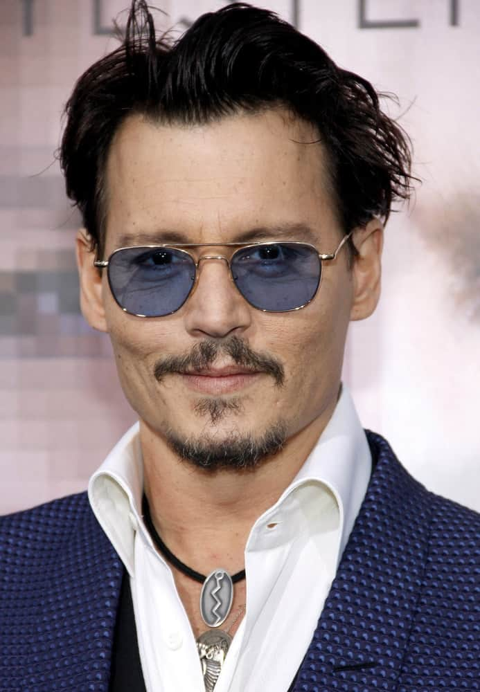 Johnny Depp was at the Los Angeles premiere of