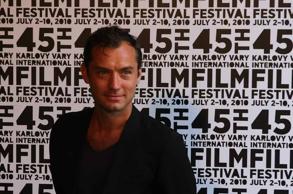 Actor Jude Law introduced The Talented Mr. Ripley at the International Film Festival Karlovy Vary last July 5, 2010 in Karlovy Vary, Czech Republic. He wore a smart casual outfit complemented by his short tousled dark hair.