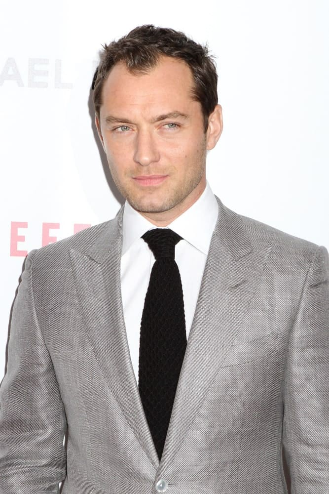 Jude Law attended the premiere of