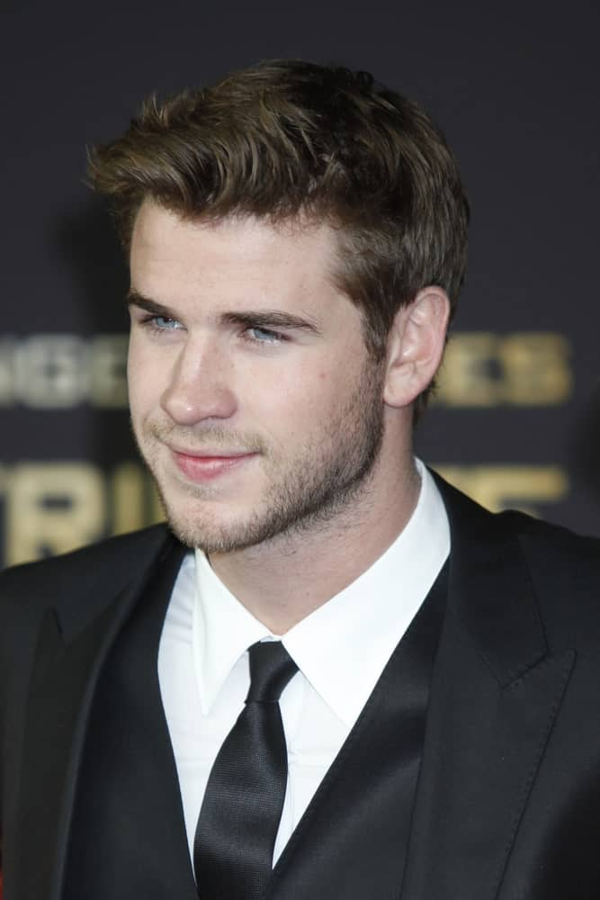 The Australian actor looked undoubtedly handsome with his side-parted hair dyed in dark blonde during the Hunger Games premiere on March 16, 2012 in Berlin, Germany.