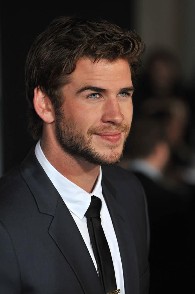 The actor appeared with his highlighted dark curls at the US premiere of