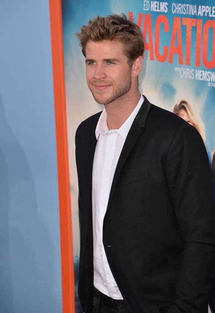 Liam Hemsworth at the premiere of