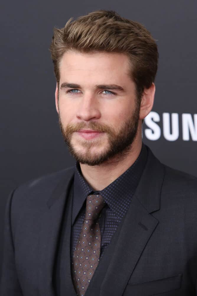 Liam Hemsworth attending the premiere of