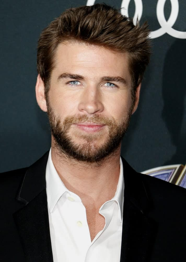 Liam Hemsworth showcased a dashing look with his brushed-up hairdo with subtle spikes during the World premiere of 'Avengers: Endgame' held on April 22, 2019.