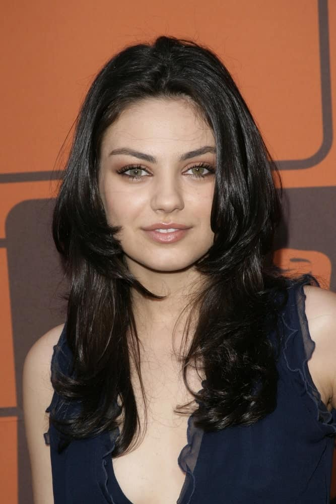 Mila Kunis sported some raven layers with a slight tousle and waves at THAT '70S SHOW Series Finale Party held at the Roosevelt Hotel in Los Angeles last May 06, 2006.