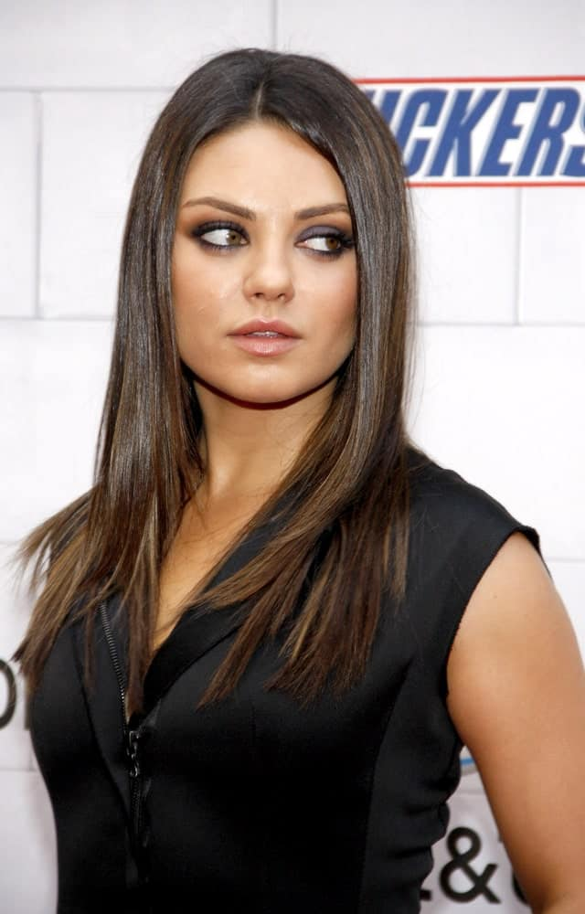Last June 2, 2012, Mila Kunis had smoky eyes and long straight hair with highlights when she attended the Spike TV's 6th Annual