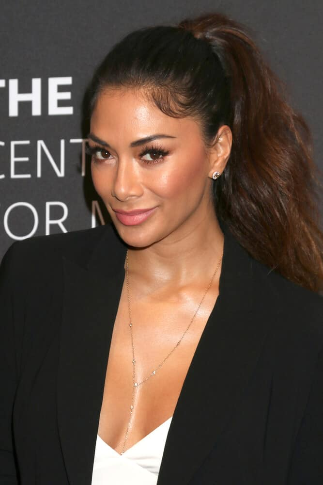 "Nicole Scherzinger looking simple but gorgeous in this voluminous ponytail she wore at the  ""Dirty Dancing: The New ABC Musical Event"" Premiere Screening last May 18, 2017."