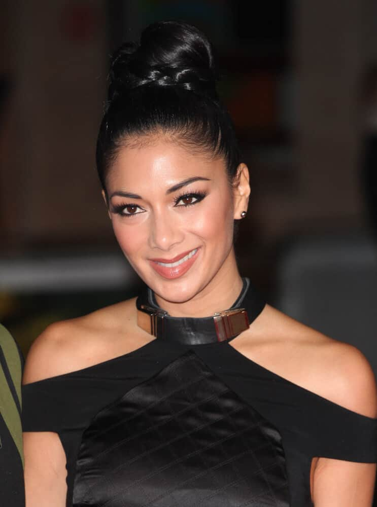 Nicole Scherzinger looked extra elegant with this braided bun she wore during the World Premiere of Jack Reacher, at Odeon Leicester Square, London, 2012.