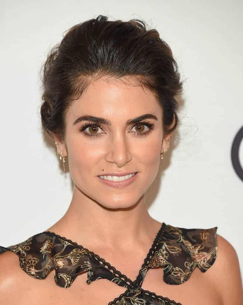Nikki Reed sported a voluminous, tousled bun during the Variety's Power Of Women: Los Angeles, October 13, 2017.