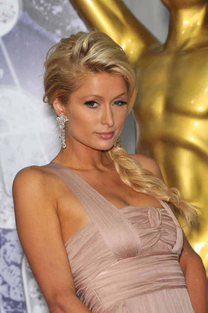 Paris Hilton looking sweet and elegant with this side-swept braid during the 2010 World Music Awards at the Monte Carlo Sporting Club, Monaco. May 18, 2010.