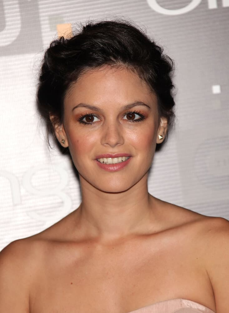 Rachel Bilson rocked the 2011 CW Premiere Party with an elegant upstyle and neutral-toned makeup.