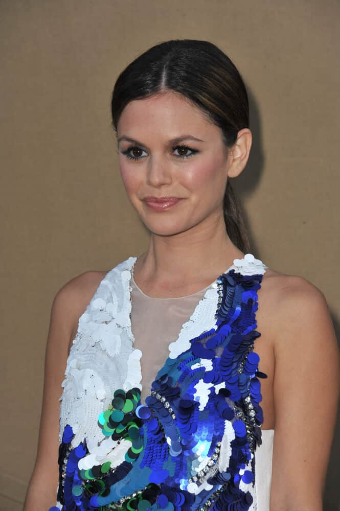 Rachel Bilson exhibited an elegant aura with this sleek, low ponytail during the CBS Showtime CW All Star Winter TCA Party 2013,
