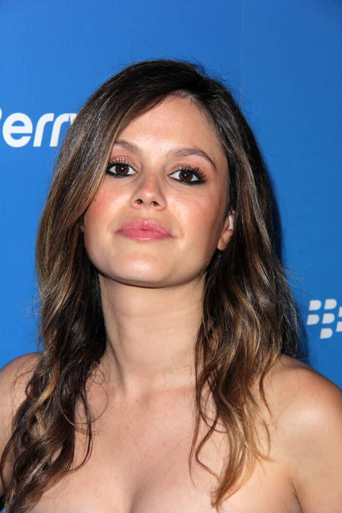 Rachel Bilson's highlighted waves perfectly matched her makeup look during the US launch of the Blackberry Z10 Smartphone at the Cecconi's on March 20, 2013.