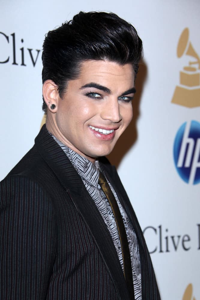 Adam Lambert with Pompadour hairstyle