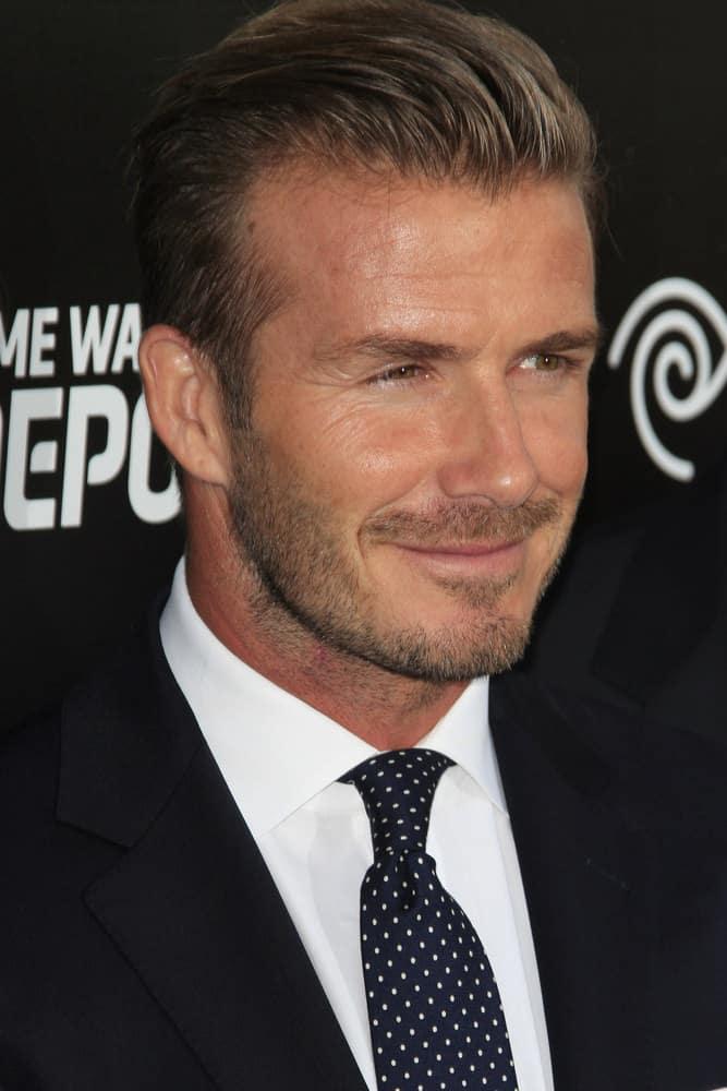 David Beckham sporting a Pompadour