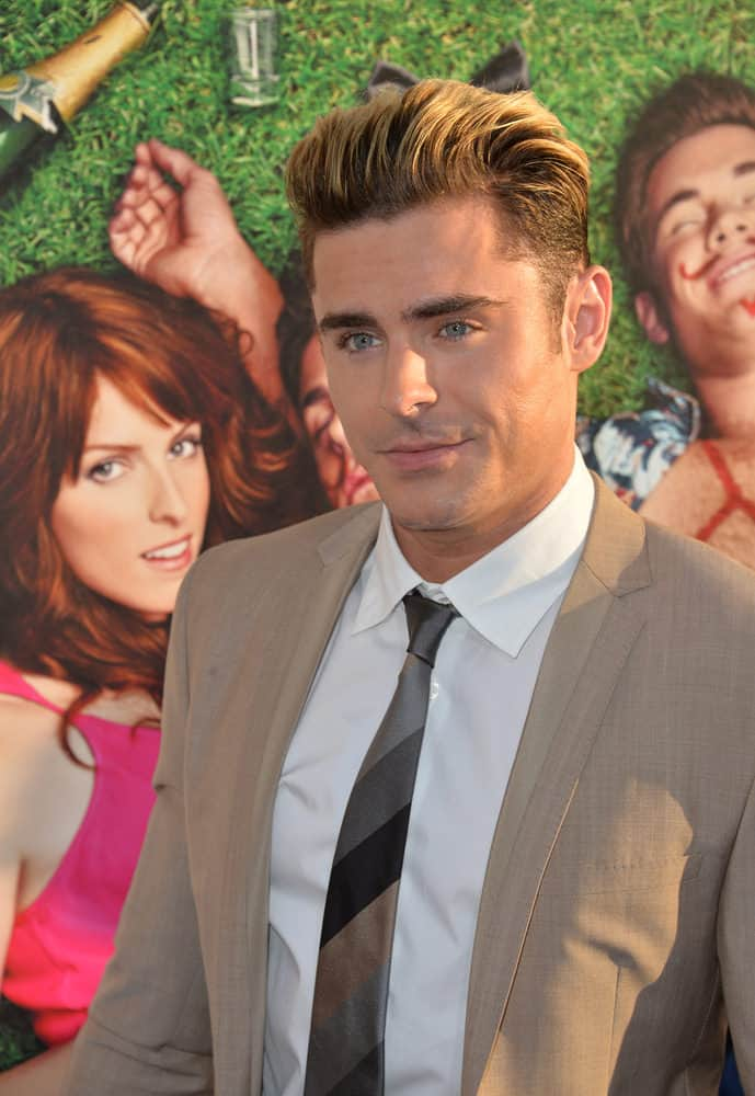 Zac Efron with Pompadour