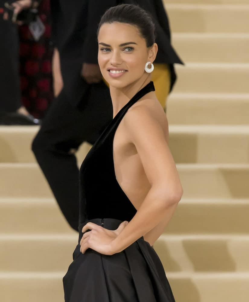 Adriana Lima wore a confident smile, a simple black dress and a simple updo when she attended the 'Rei Kawakubo/Comme des Garcons: Art Of The In-Between' Costume Institute Gala at Metropolitan Museum of Art last MAY 01, 2017.