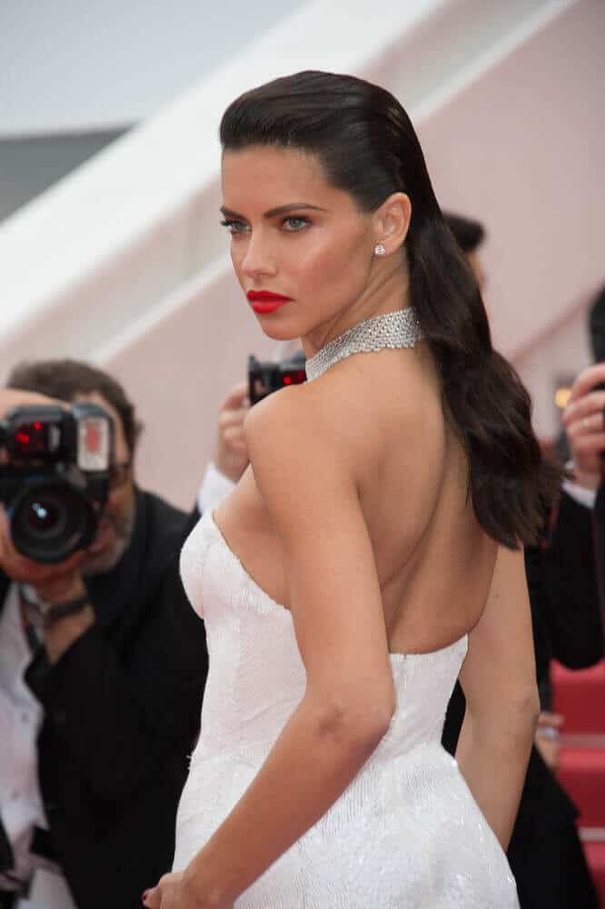"Lima flaunted her modelesque figure with this white gown and her slicked back waves that kept all her hair intact, showing of her bare back. This look was worn last May 18, 2017 for the premiere of ""Loveless"" at the 70th Festival de Cannes."