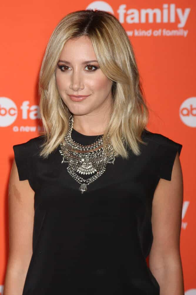 Subtle layers made a hug difference on Ashley Tisdale's look for the ABC July 2014 Teen Choice Award.
