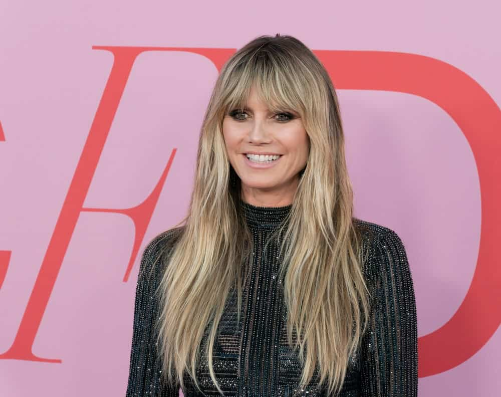 During the CFDA Fashion Awards last June 3, 2019, this well-known TV personality exhibits her long blonde hair that's volumized and layered. Curtain bangs completed the sophisticated yet laidback look.