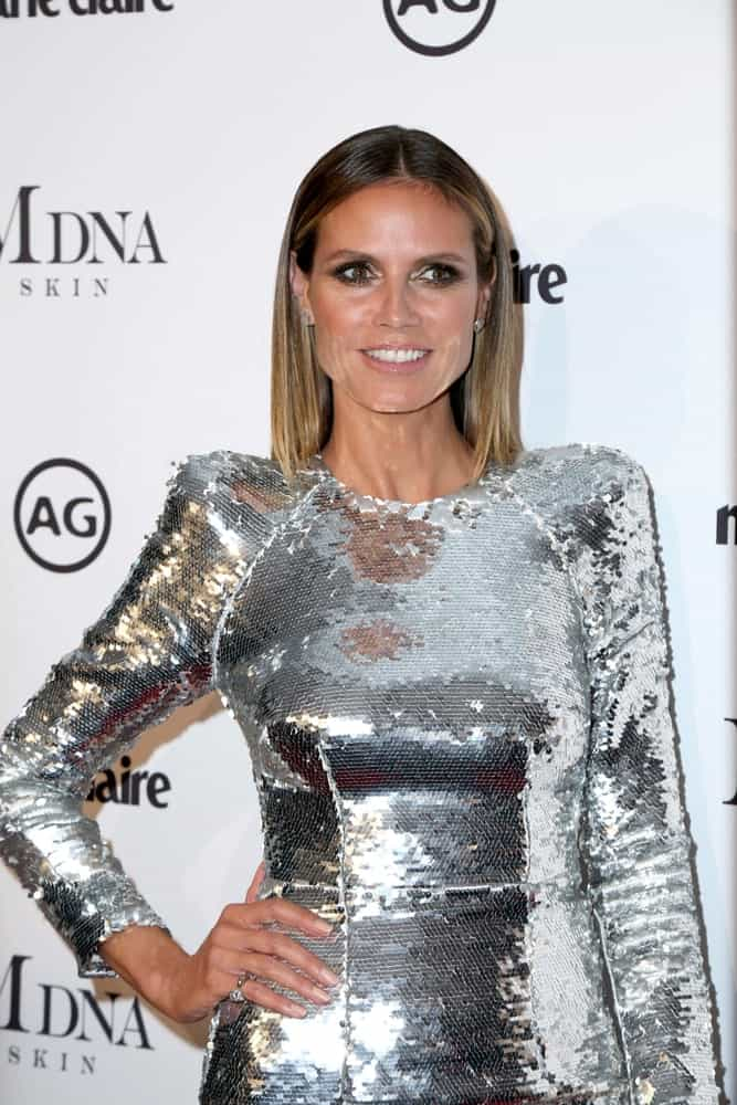Last January 11, 2019, the German model arrived at the Marie Claire Image Makers Awards flaunting her sleek center-parted hair that's accentuated by a silver sequin dress.