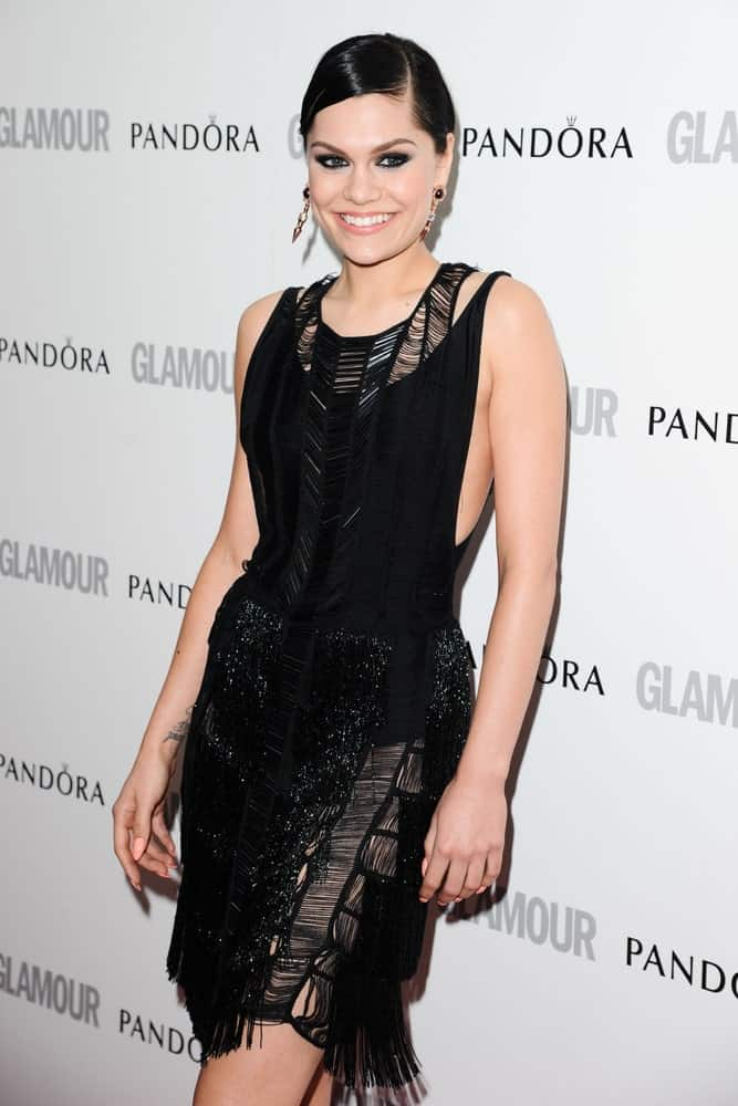 Jessie J attended the Glamour Women Of The Year Awards 2012 at Berkeley Square in London last May 29, 2012. She was wearing a sexy black dress that matches well with her raven slick updo hairstyle.